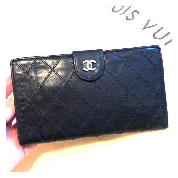 81a394a3eae9 CHANEL Handbags - Chanel Black Vintage Matelasse Lambskin Wallet